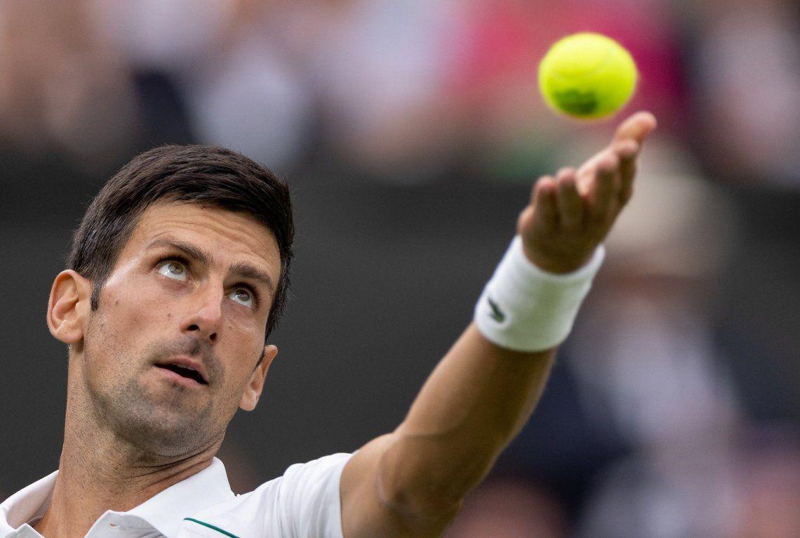 Wimbledon: Djokovic debutó con un triunfo en la primera jornada
