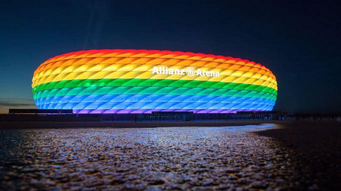 UEFA rechazó que el estadio de Múnich se ilumine con los colores LGBTI+
