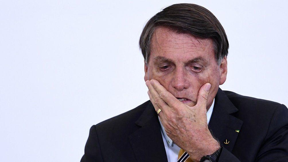 Bolsonaro, presidente de Brasil.