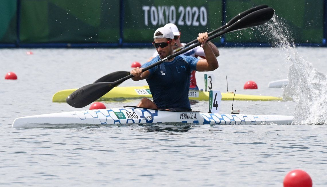Juegos Olímpicos Tokio 2020: Agustín Vernice diploma olímpico en canotaje