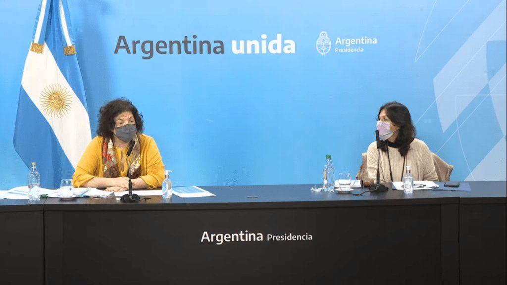 Carla Vizzotti y Vilma Ibarra.