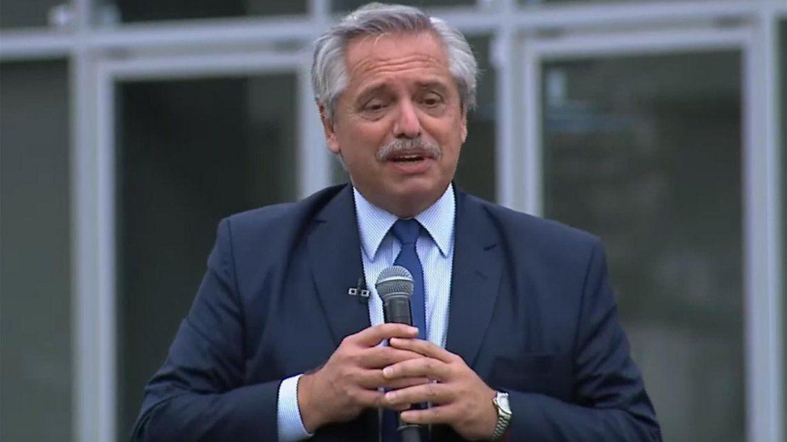 Alberto Fernández encabezó un acto sobre obras en el partido de Almirante Brown.