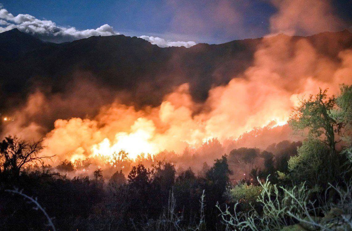 El Bolsón: se agravan los incendios por las altas temperaturas