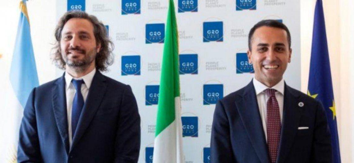 Santiago Cafiero y Luigi Di Maio