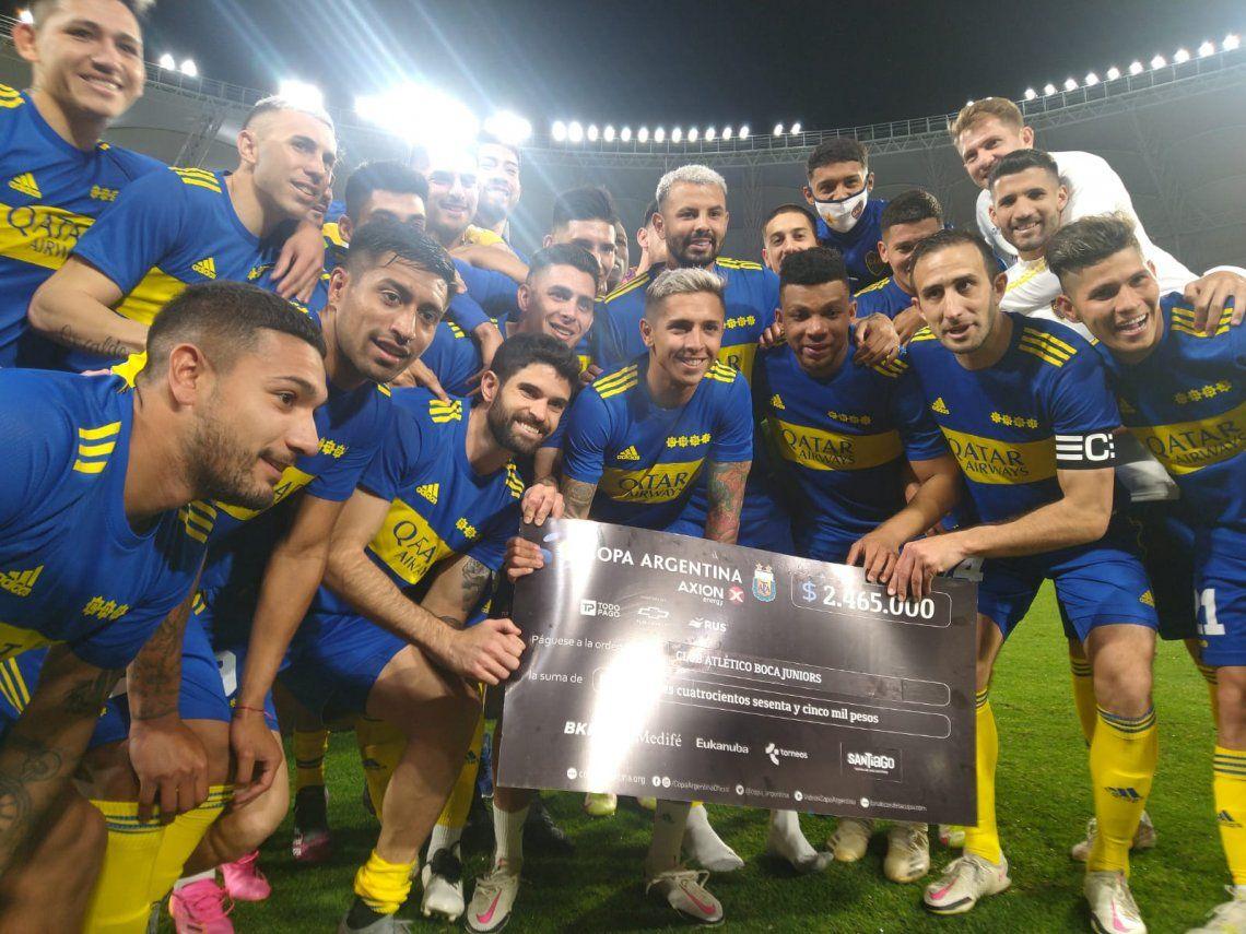 Boca quedó a dos partidos de ganar la Copa argentina y clasificar a la Libertadores 2022