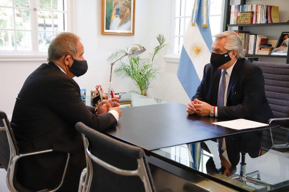 Alberto Fernández recibió en Olivos al secretario general de La Bancaria