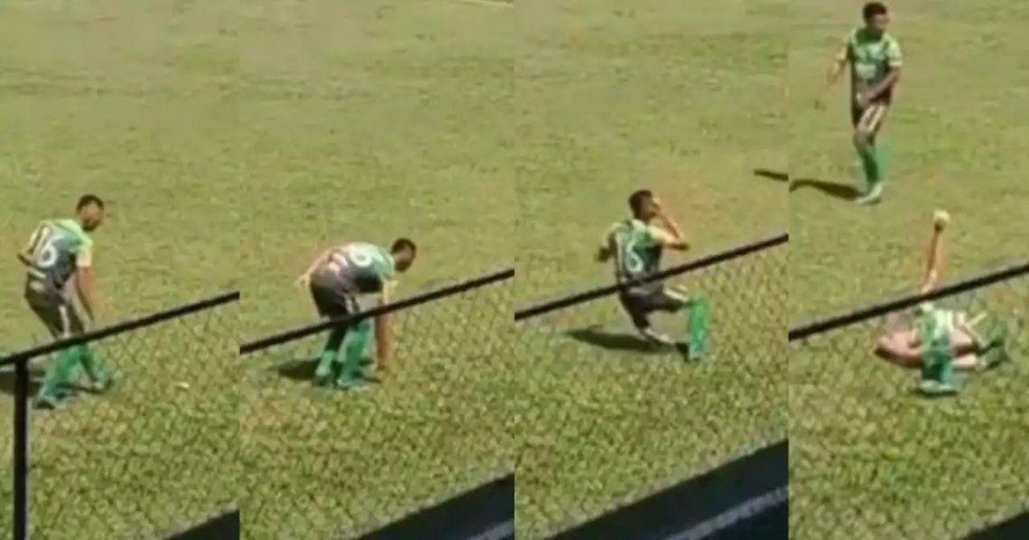 Guatemala: Un futbolista se golpeó a sí mismo con una piedra.