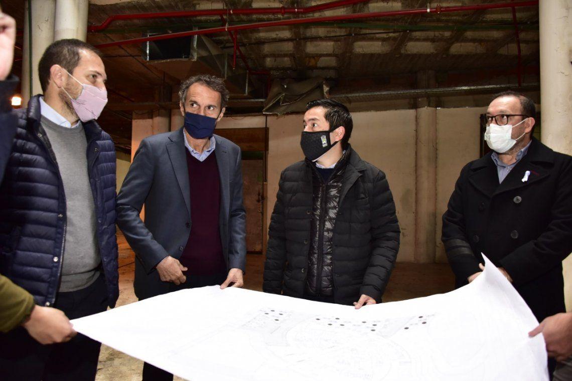 Leo Nardini y Gabriel Katopodis recorrieron elHospital Universitario y de Diagnóstico Precoz