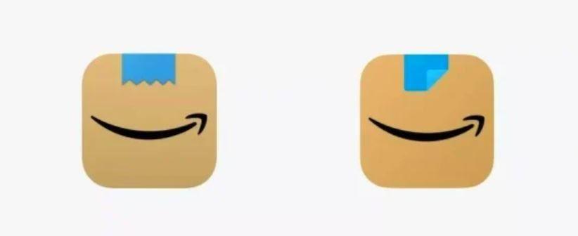 El logo de Amazon antes y después de la polémica.