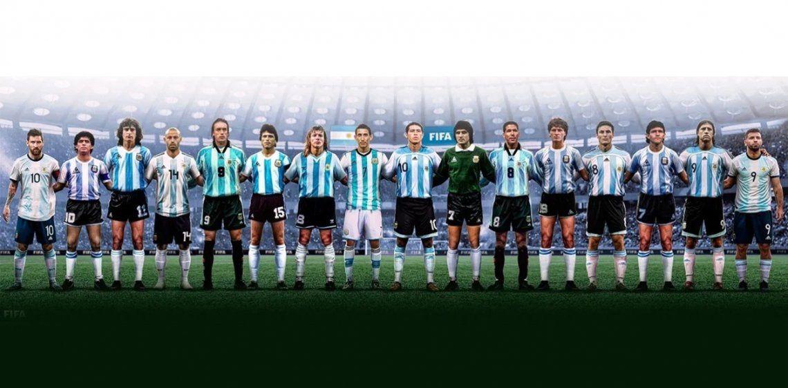 Los 16 de la Selección Argentina que eligió la FIFA