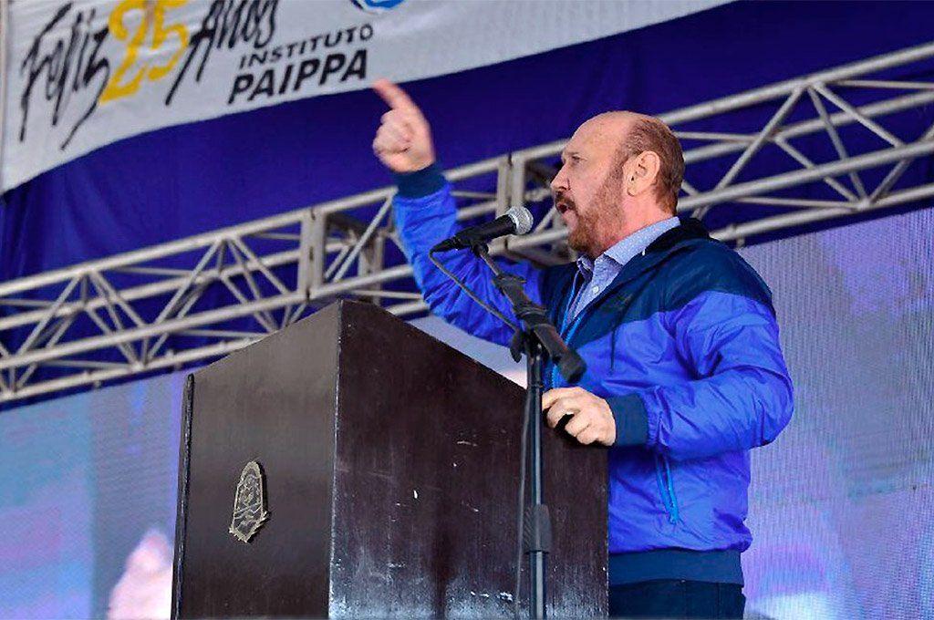 Gildo Insfrán dejó duros conceptos en un discurso frente a productores agropecuarios esta semana.