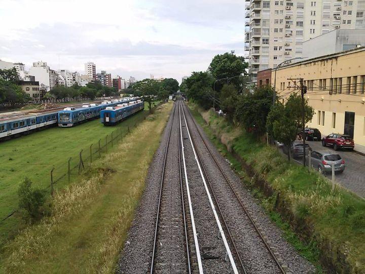 Colegiales: playón ferroviario.