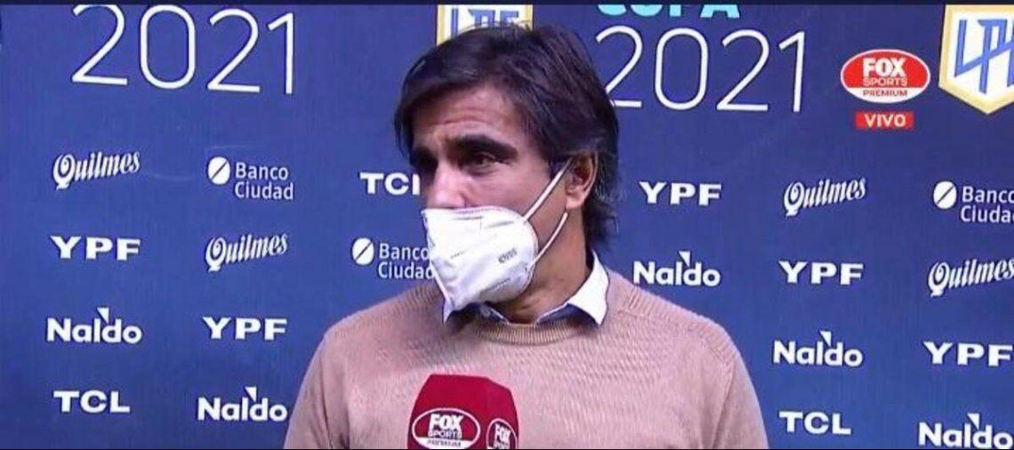 Javier Sanguinetti se fue feliz por el triunfo.