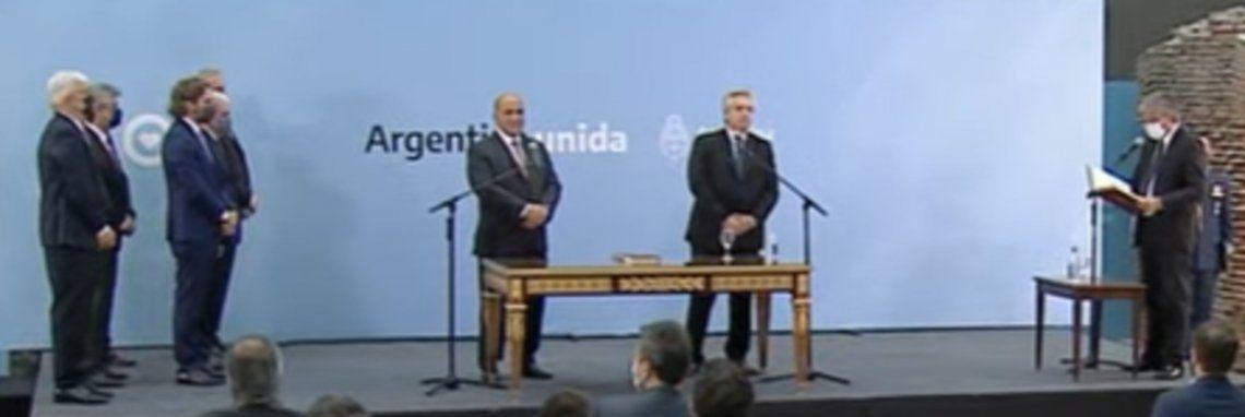 Juan Manzur y Alberto Fernández.
