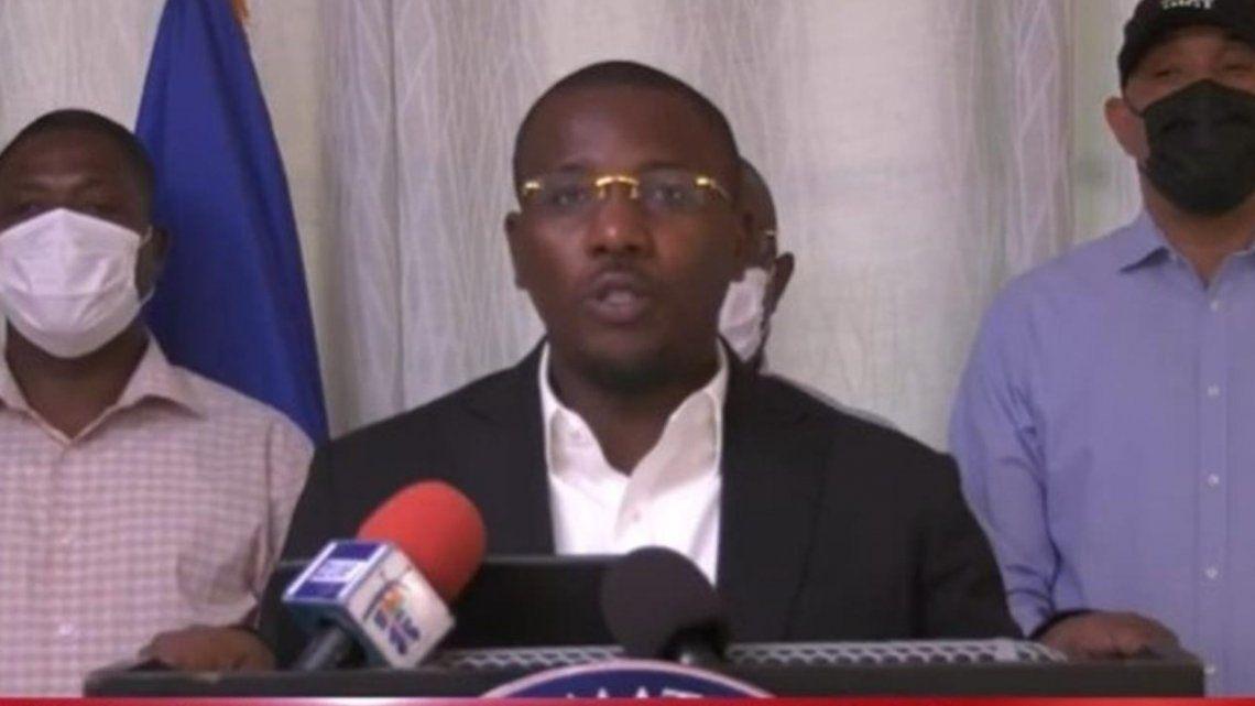 Claude Joseph pidió calma a la población y compartir la pena por el asesinato del mandatario.