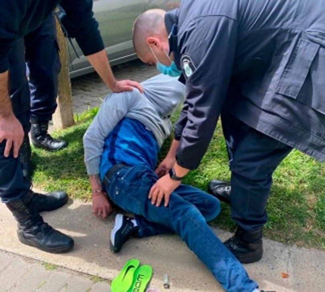 El delincuente fue detenido en Nordelta.