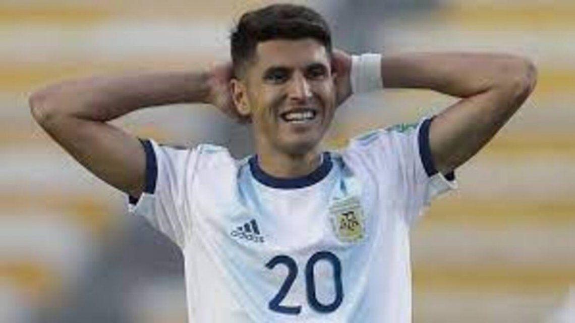 Exequiel Palacios y una dura lesión que lo marginaría de la Selección.