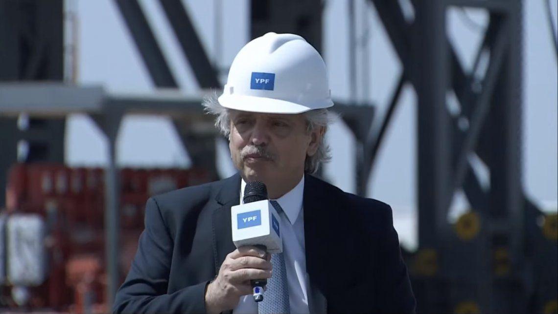 Fernández presentó el Plan Gas, una iniciativa que busca reconstruir YPF