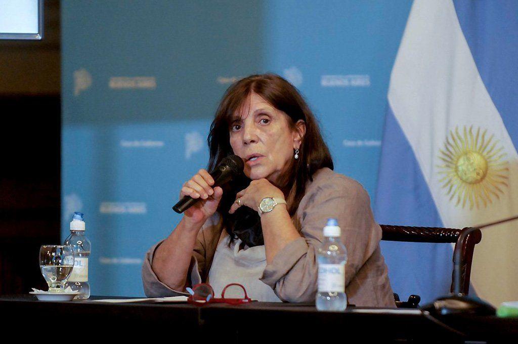 María Teresa García, ministra de Gobierno bonaerense. Archivo.