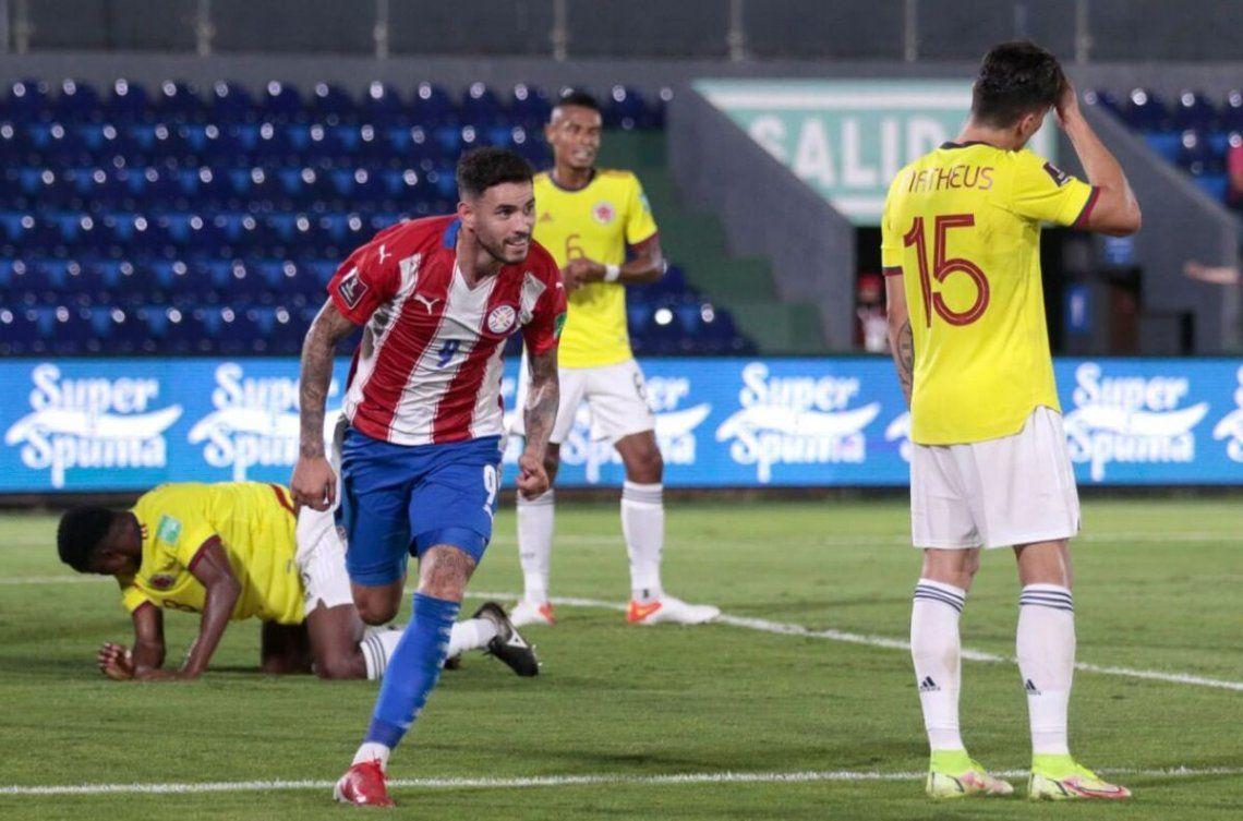 Paraguay y Colombia igualaron 1 a 1.