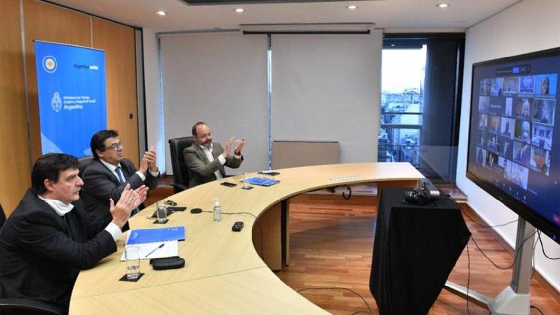 El Consejo del Salario se reunió de manera virtual.