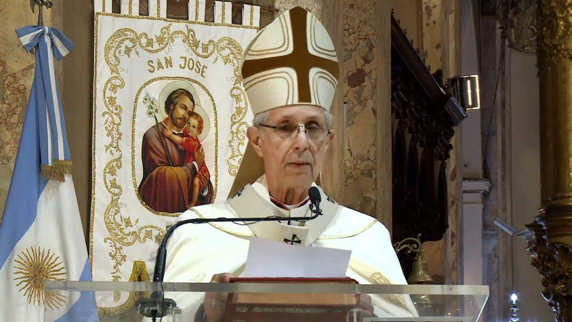 El Cardenal Mario Poli brindó el Tedeum de manera virtual para sus fieles.