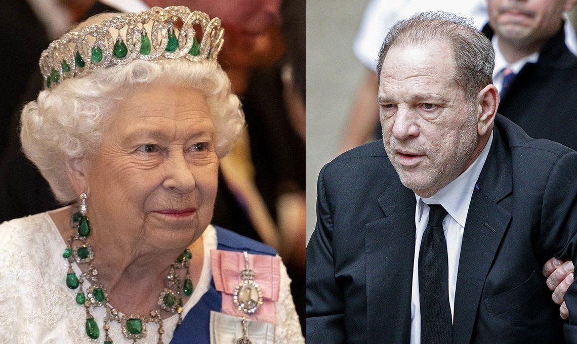 La Reina Isabel ll despojó a Harvey Weinstein de la insignia de Caballero de la Orden