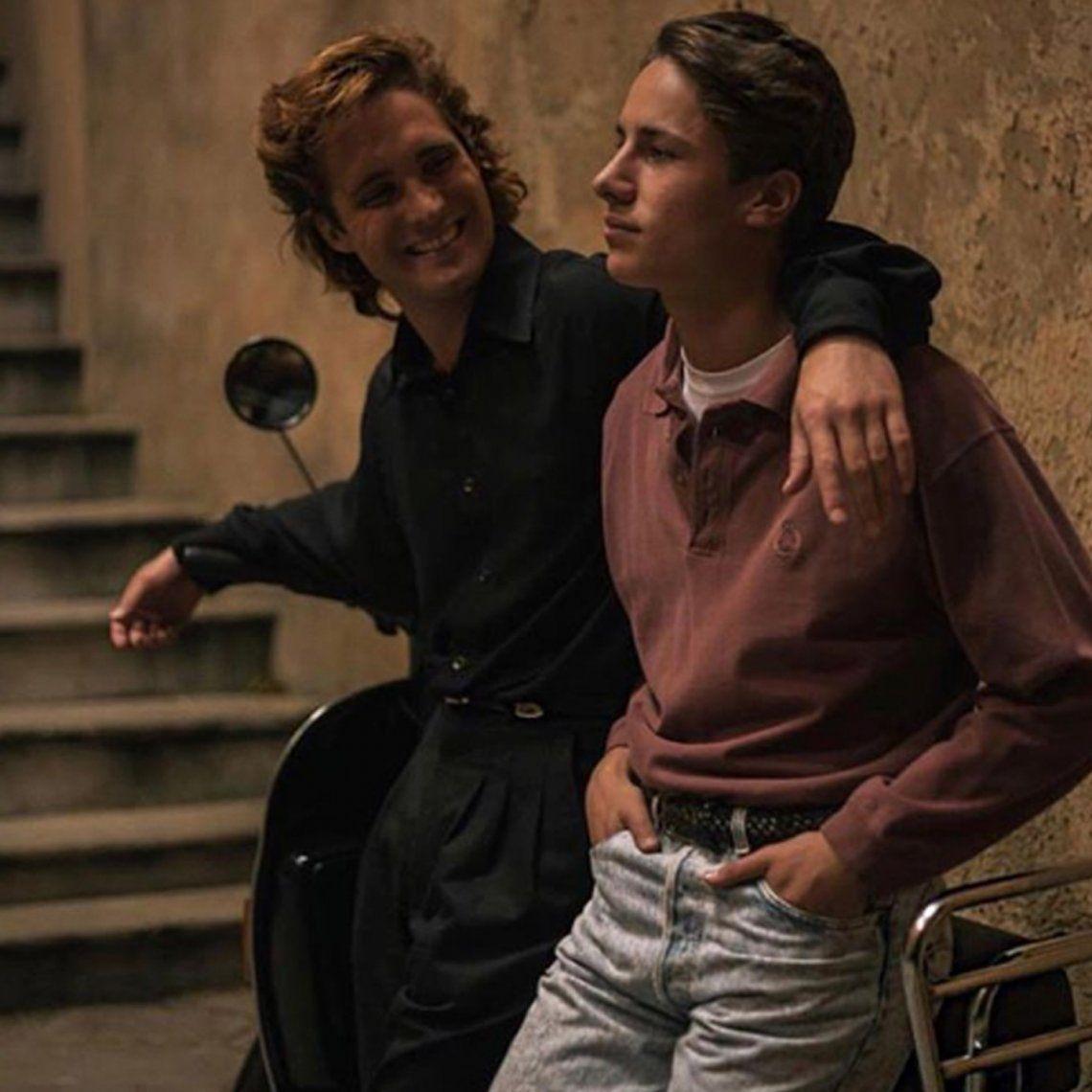 El actor Diego Boneta junto a Juan Pablo Zurita.