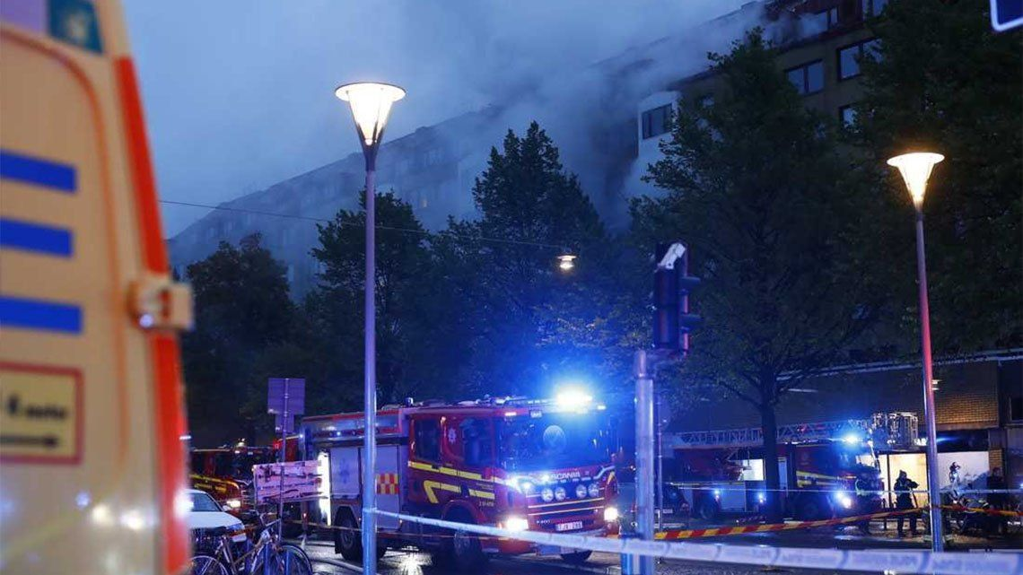 Suecia: más de 20 heridos por una fuerte explosión.
