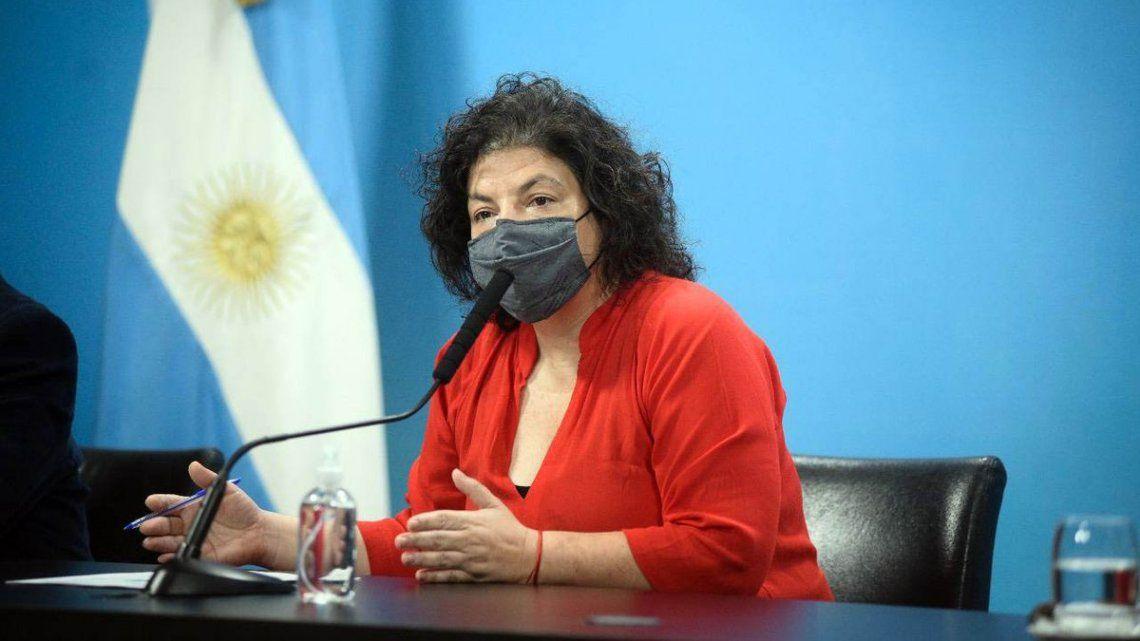 La ministra explicó que el primero en recibir el refuerzo sería el personal de salud