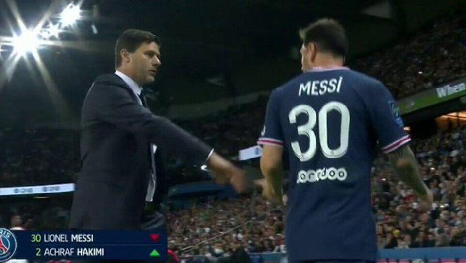 Messi salió por Hakimi asombrado ¿y enojado?
