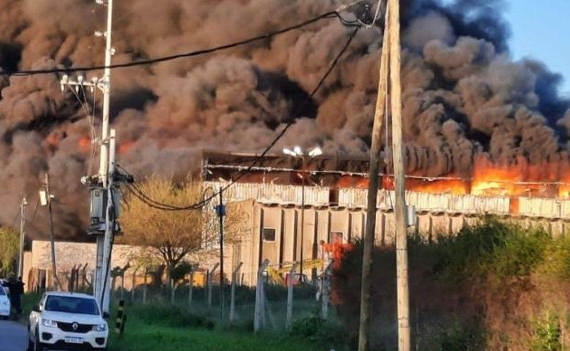 Incendio en Bernal.