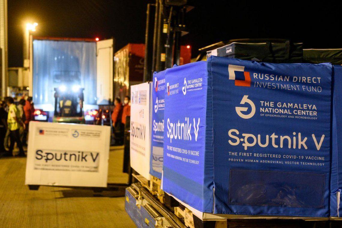 El vuelo que trajo la vacuna Sputnik V se realizó de forma directa en aproximadamente 18 horas.
