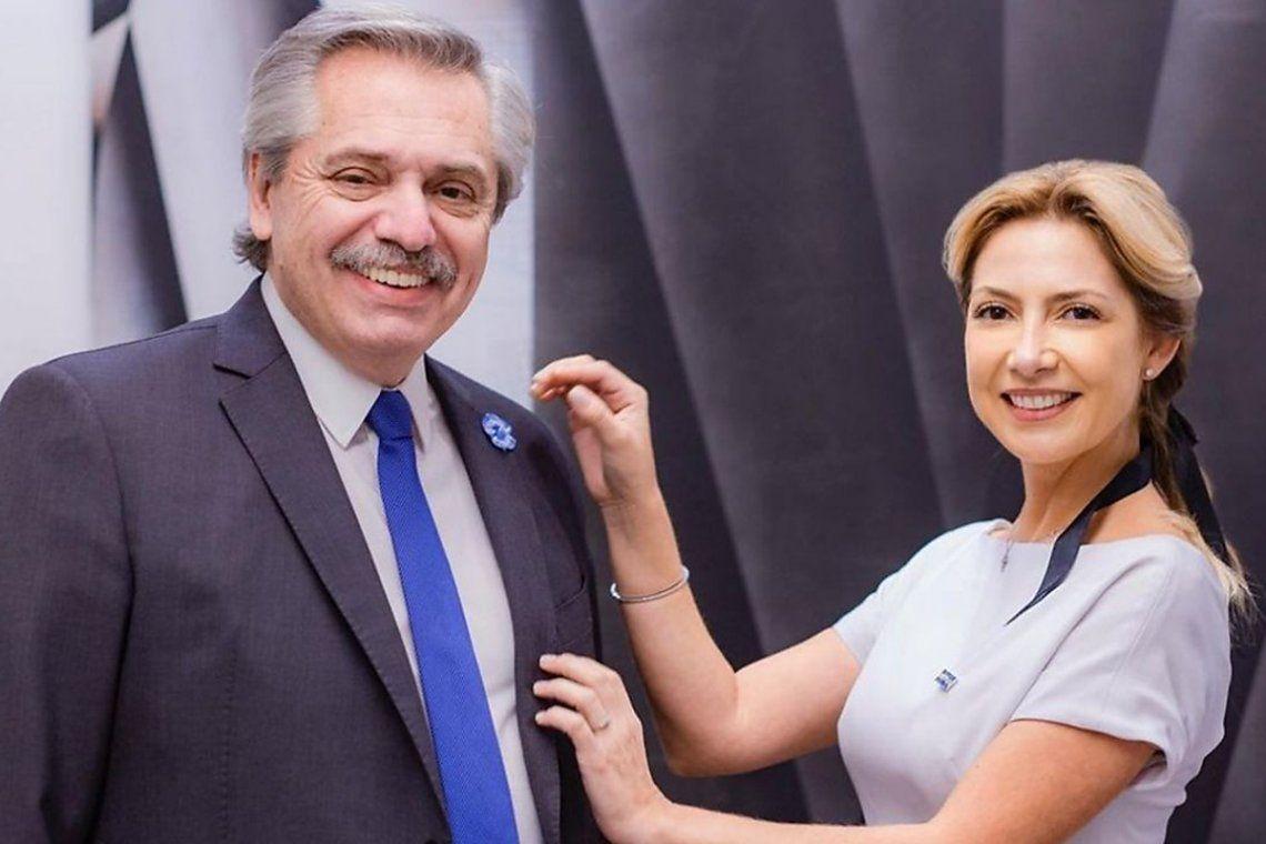 El presidente Alberto Fernández y la primera dama