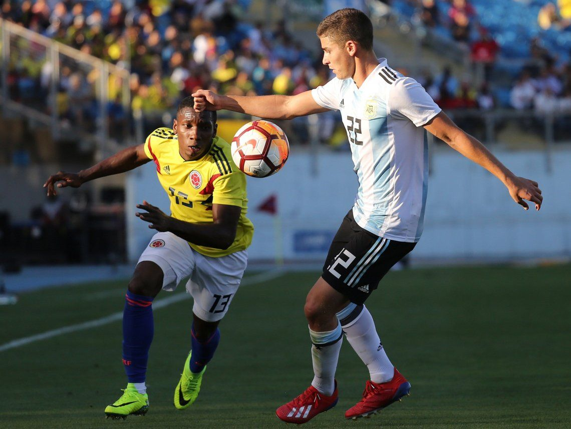 Argentina sufrió ante Colombia, pero consiguió su primera victoria en el hexagonal final del Sudamericano Sub-20
