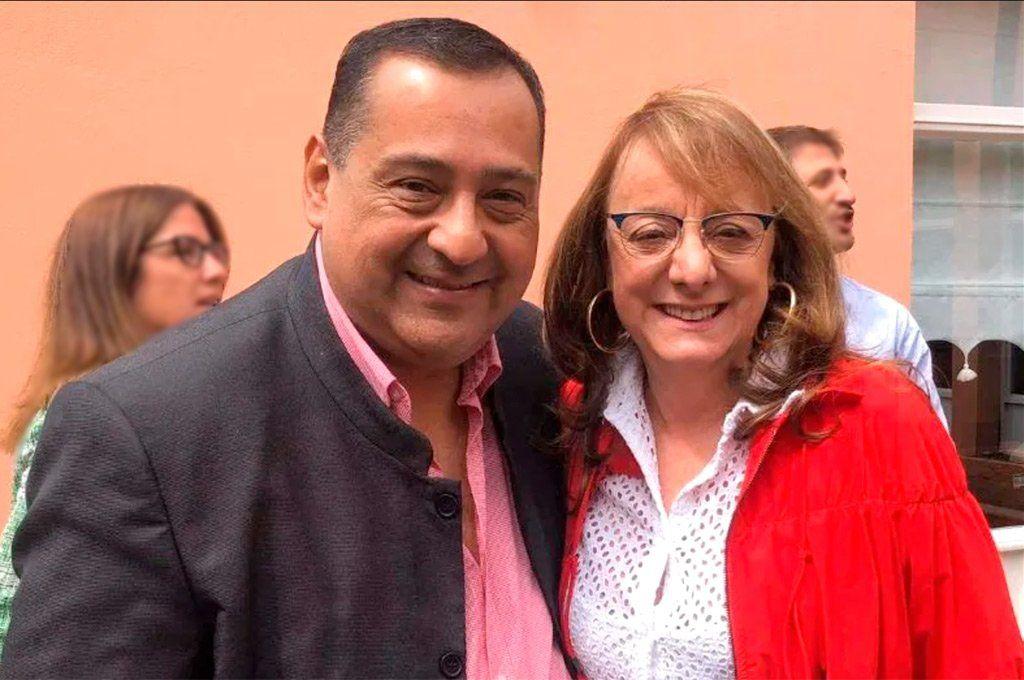 El intendente Guillermo Mercado y la gobernadora de Santa Cruz