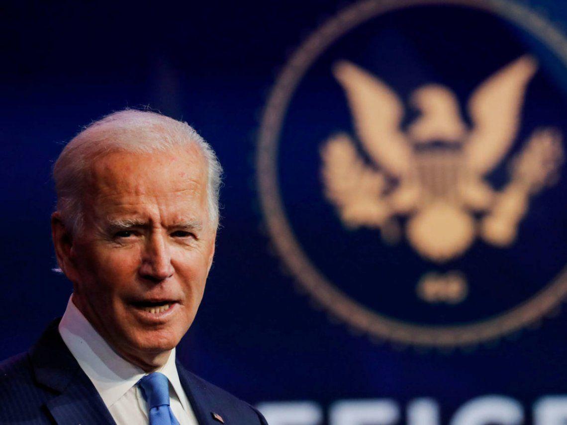 Joe Biden asume el cargo el próximo 20 de enero.