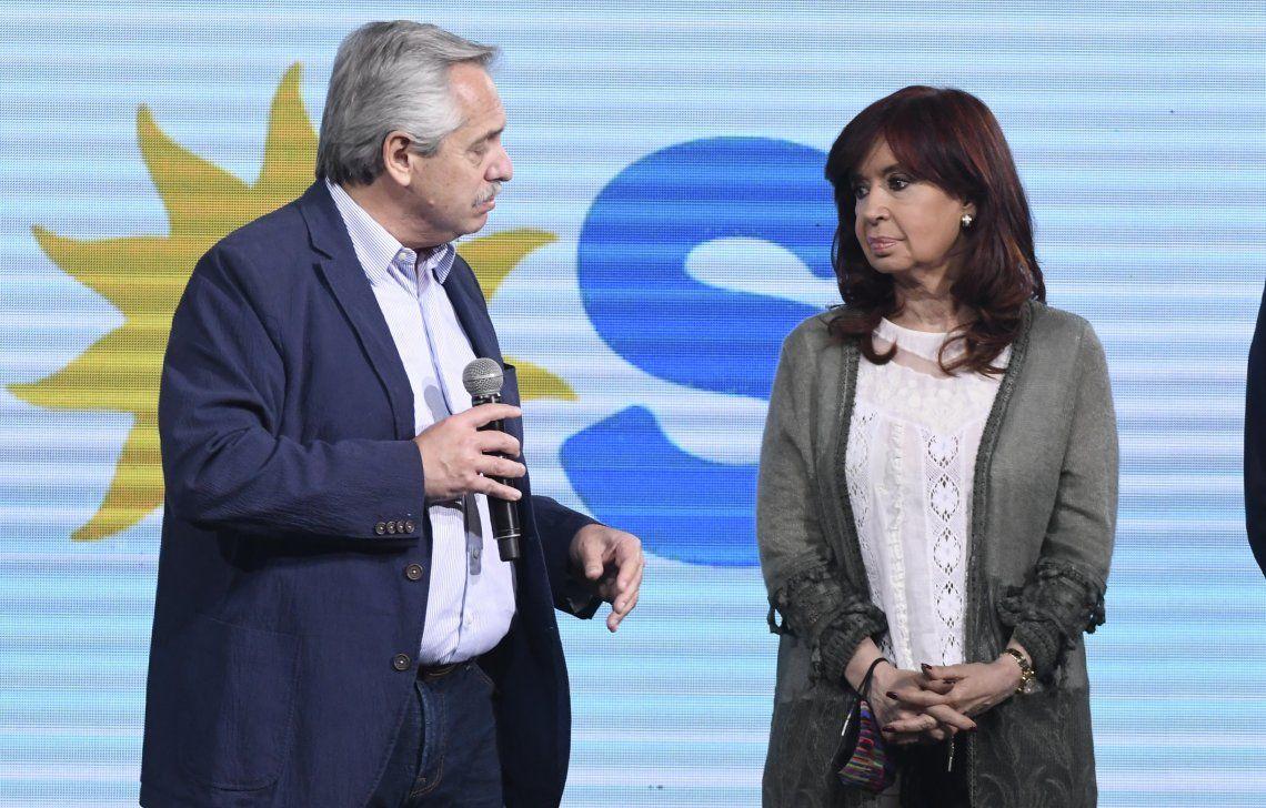 Cristina y Alberto Fernández, tras el traspié en las PASO.