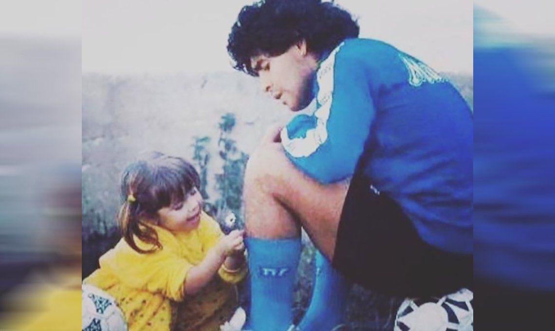 El emotivo recuerdo de Dalma Maradona a su padre