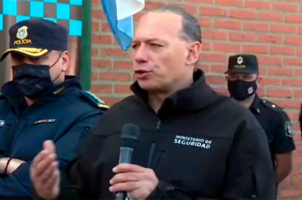 El ministro de Seguridad bonaerense Sergio Berni se mostró a favor de acabar con las discusiones políticas y dar soluciones a la gente. Captura.