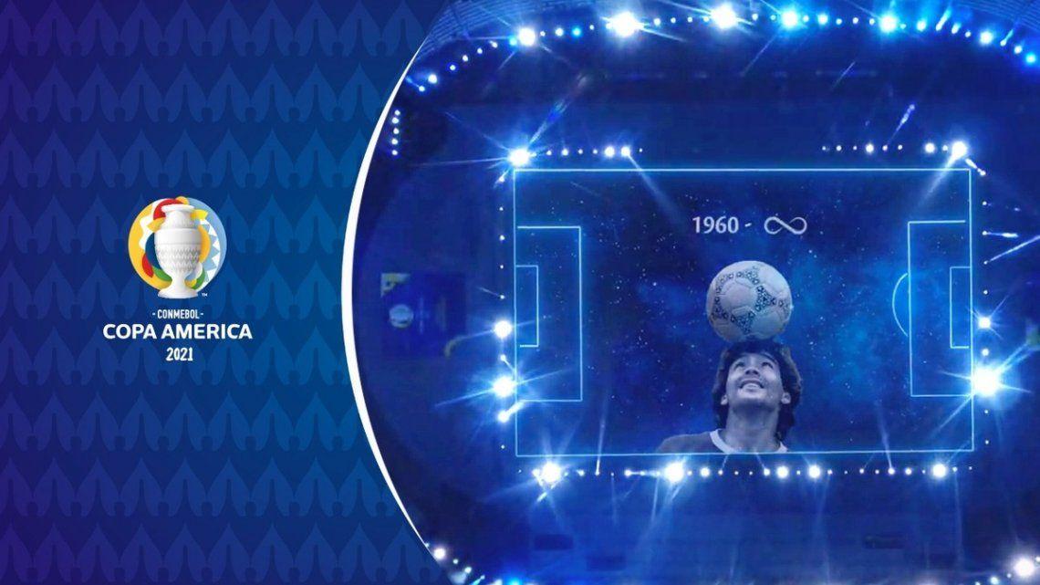 El homenaje a Diego Armando Maradona por parte de la CONMEBOL.