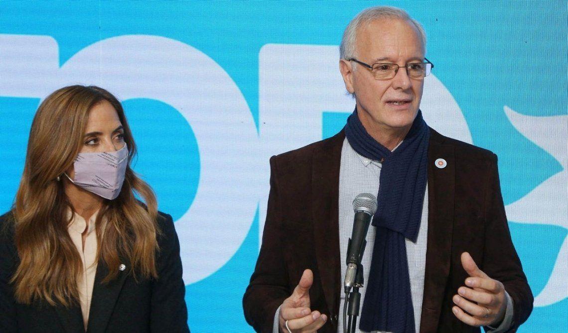 Daniel Gollan junto a Victoria Tolosa Paz