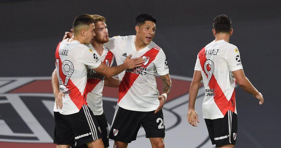 Lucas Beltrán anotó su primer gol con la camiseta de River.