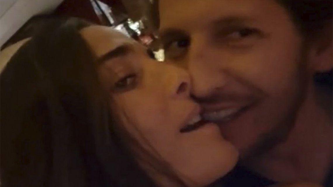 El video hot de Juana Viale a los besos con su novio.