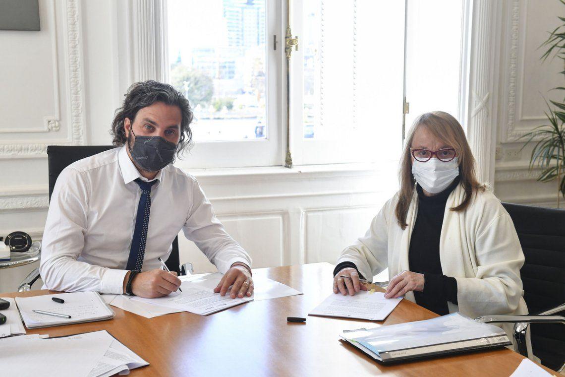 Santiago Cafiero y Alicia Kirchner.