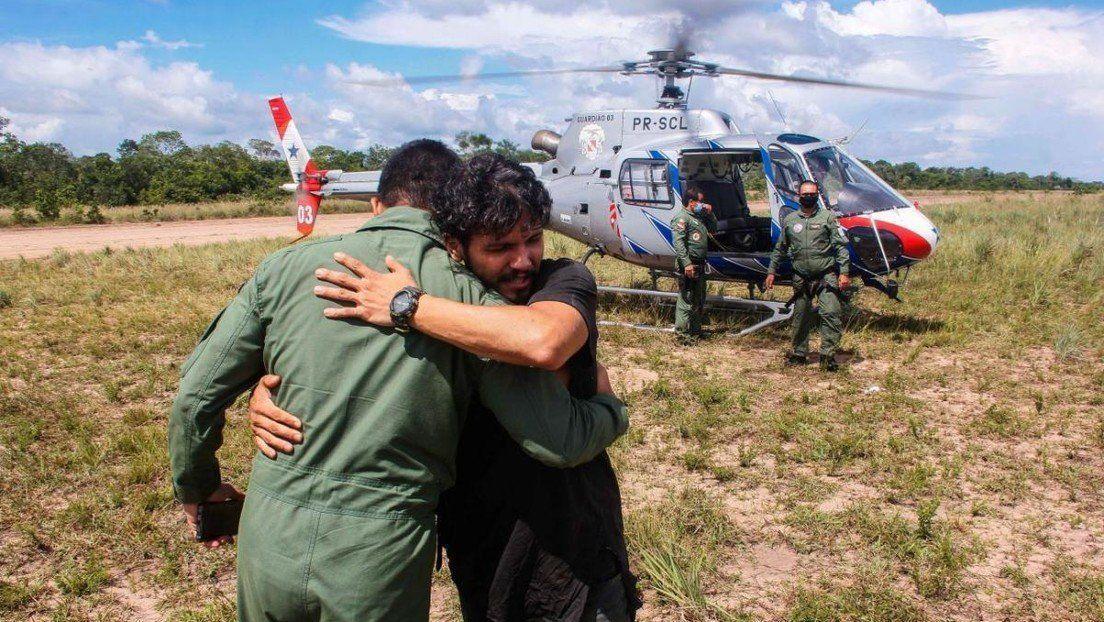 Brasil: piloto rescatado tras el accidente de avioneta.
