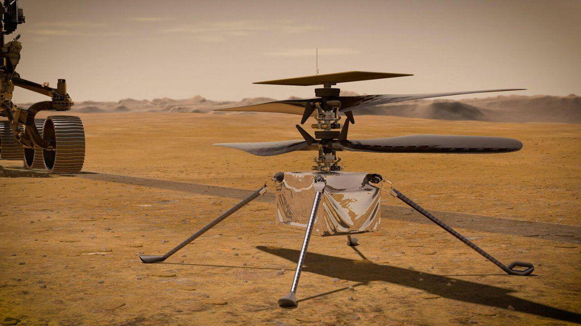 La NASA hará despegar un helicóptero motorizado desde marte.