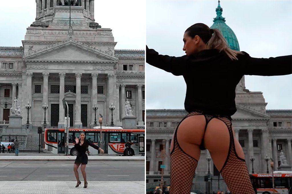 El sensual tango de Cinthia Fernández para llegar al Congreso