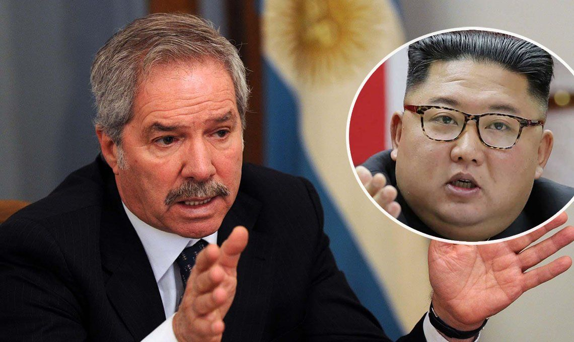 Cancillería agradeció a Corea del Sur con una imagen del norcoreano Kim Jong-un