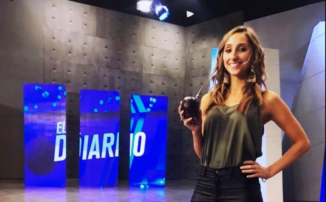 Julia Strada Rodríguez en su paso por C5N.